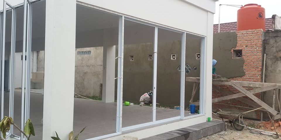 progres @kantor marketing villa bunga arengka4