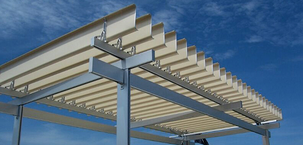 Kanopi Aluminium Sistem Buka Tutup Sunlouvre Mitrakreasiutama